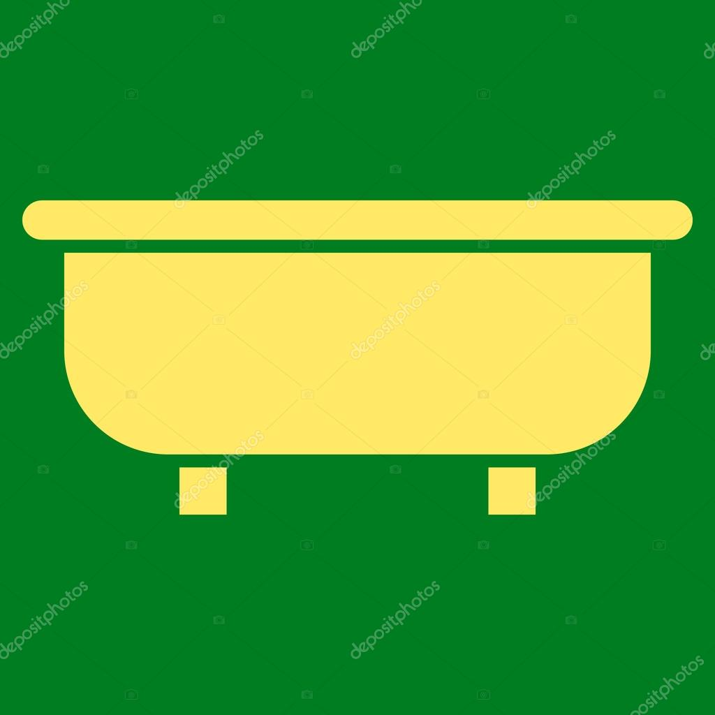badkuip platte vector symbool stockvector. Black Bedroom Furniture Sets. Home Design Ideas