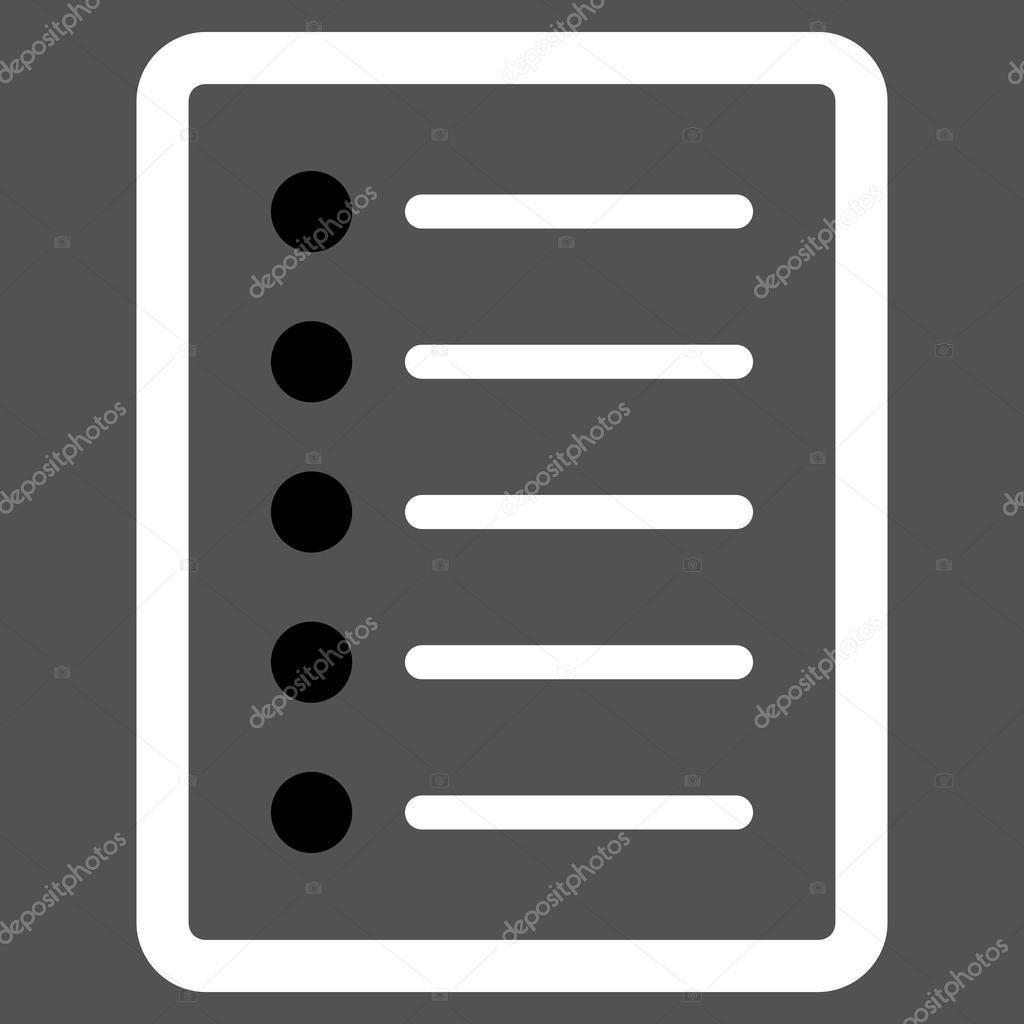 List Page Flat Vector Symbol Stock Vector Anastasyastocksail