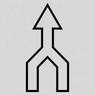 Unite Arrow Up Thin Line Vector Icon
