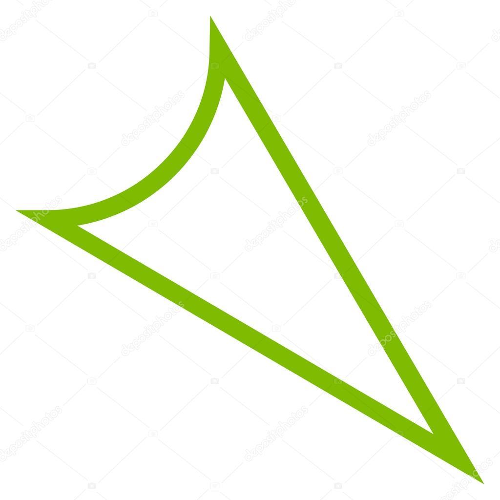 arrowhead right down contour vector icon stock vector rh depositphotos com arrowhead vector logo arrowhead vector logo