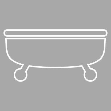 Bathtub Outline Vector Icon