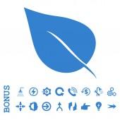 Rostlina listy ploché glyf ikona s Bonus
