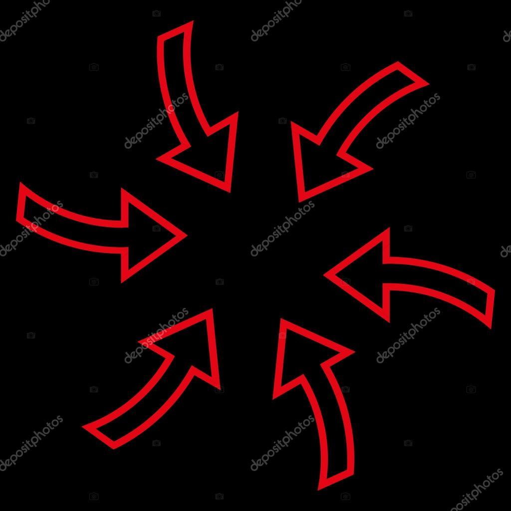 Cyclone Arrows Stroke Vector Icon