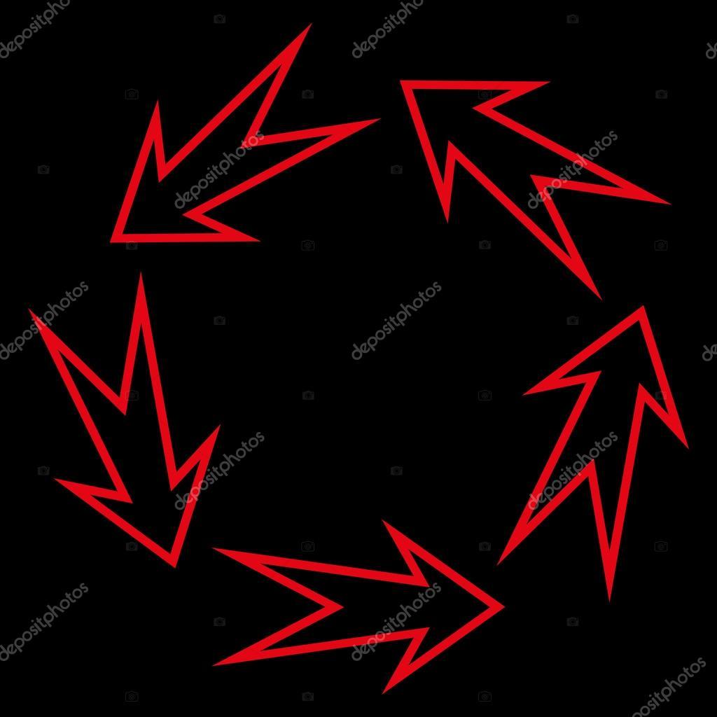 Five Recycle Arrows Stroke Vector Icon