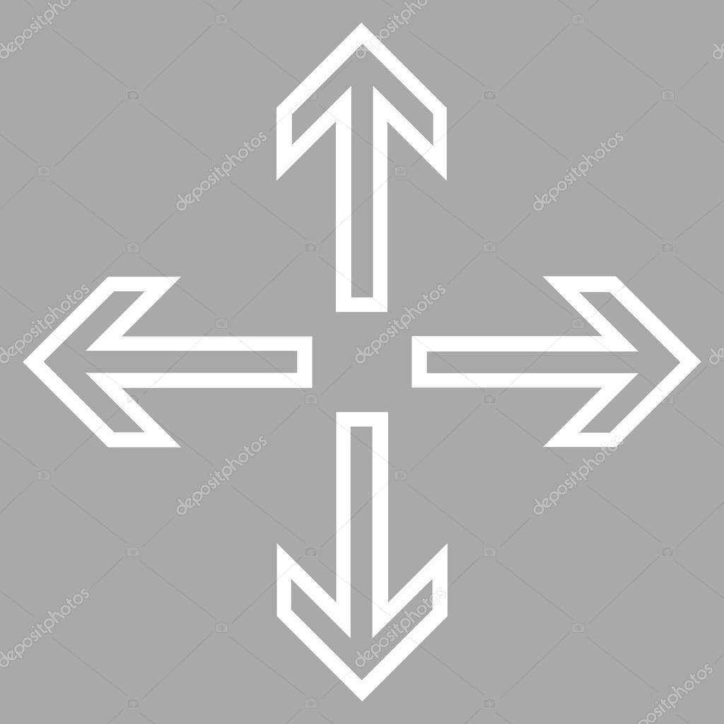 Expand Arrows Outline Vector Icon — Stock Vector