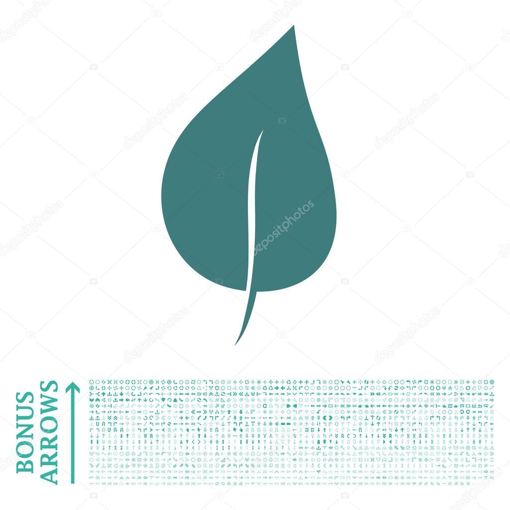 Plant Leaf Flat Vector Icon with Bonus