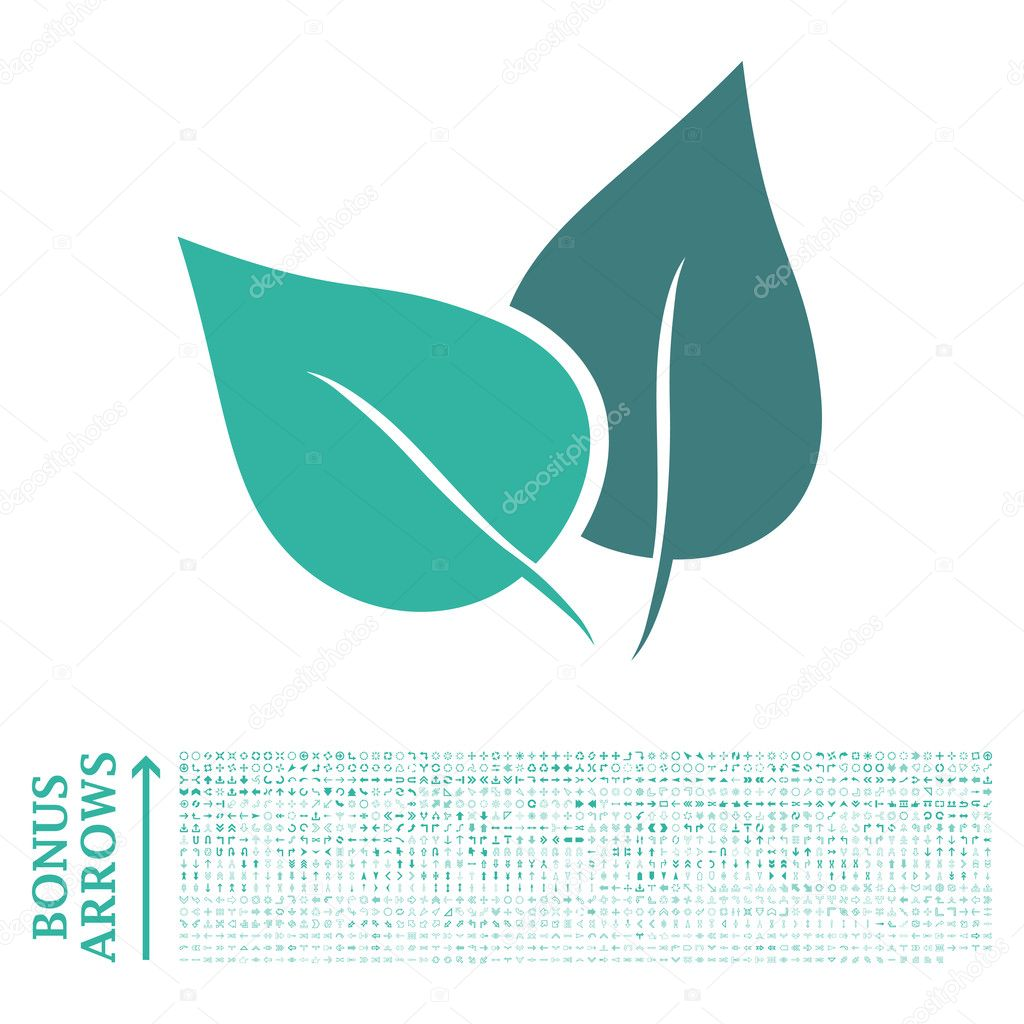 Flora Plant Flat Glyph Icon with Bonus