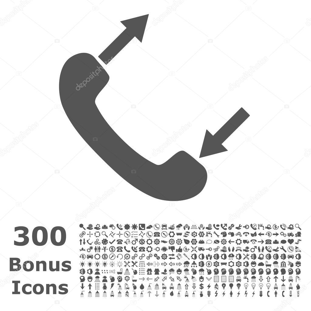 Phone Talking Flat Vector Icon With Bonus Stock Vector