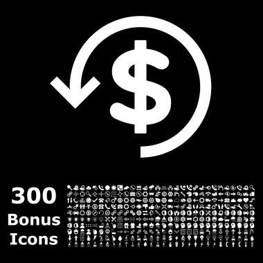 Refund Flat Vector Icon with Bonus