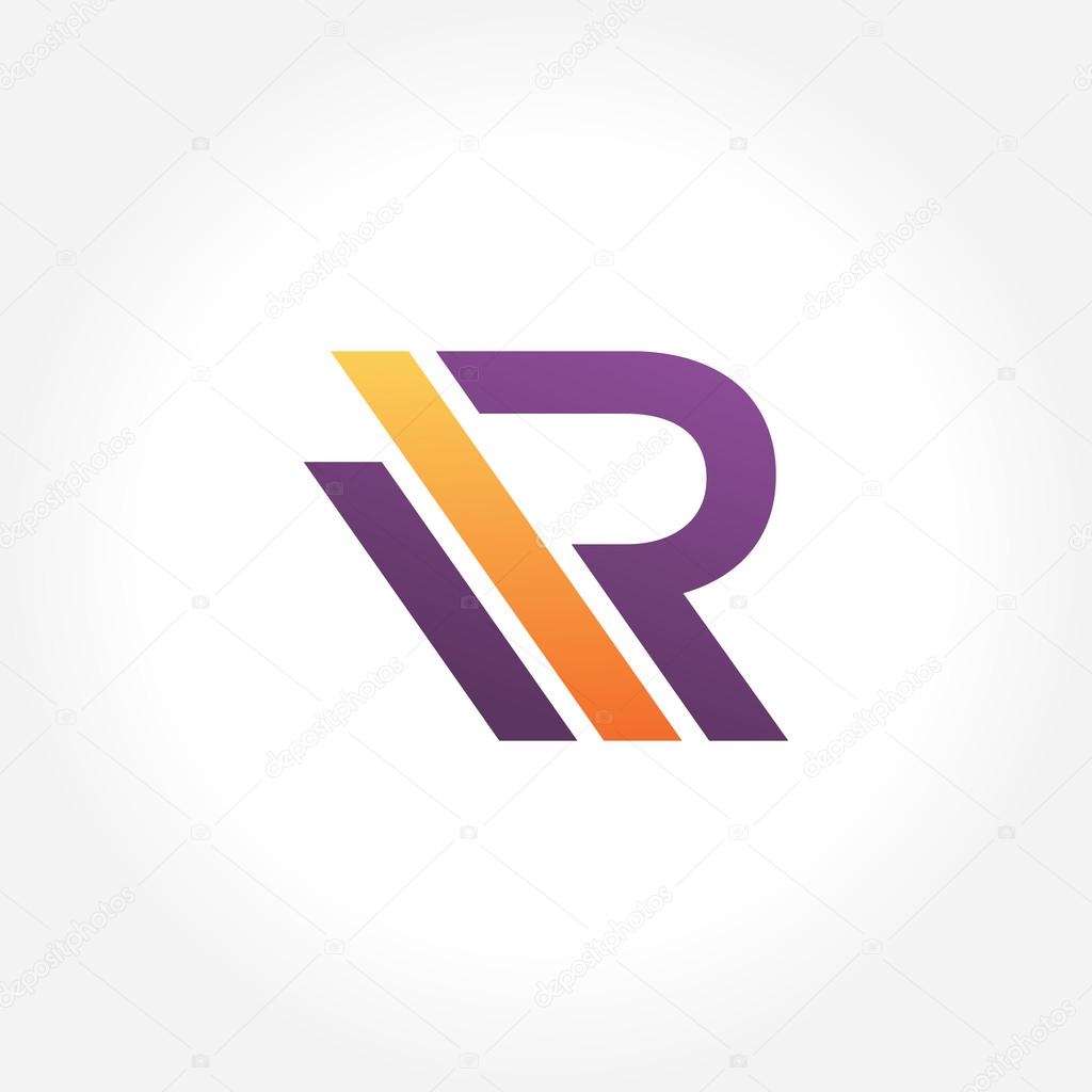 A simple stylish treatment letter R symbol   Vector by SriRejeki. Stylish Modern Letter R   Stock Vector   SriRejeki  101861660