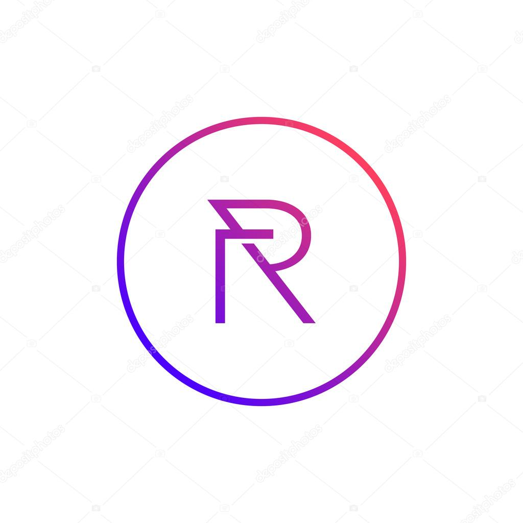 a creative illustration design for letter r icon vector by srirejeki