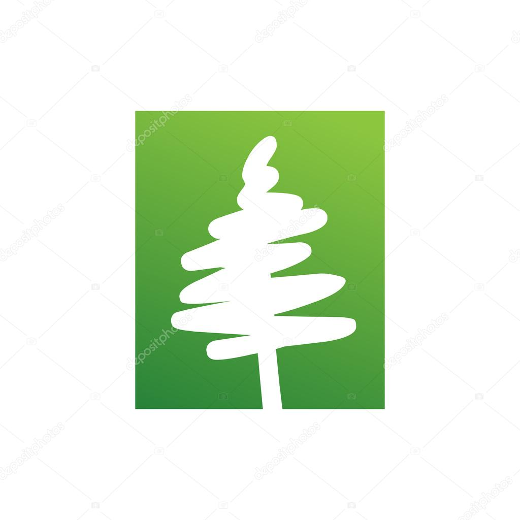 Abstract Vector Pine Tree Symbol Stock Vector Srirejeki 113421694