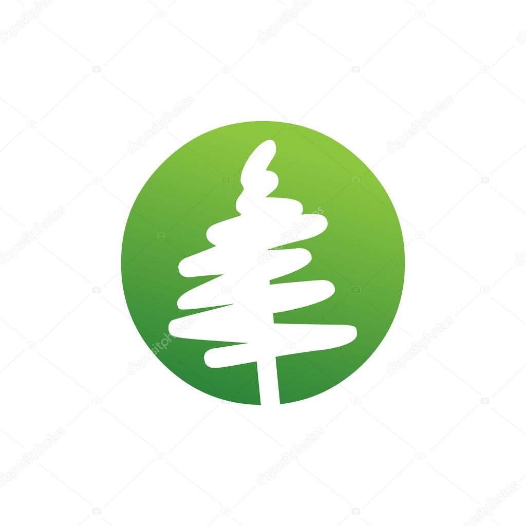 Abstract Vector Pine Tree Symbol Stock Vector Srirejeki 113421714
