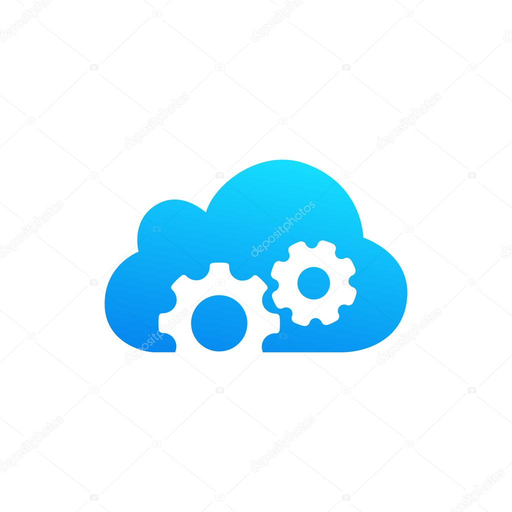 cloud computing and storage vector logo technology design template