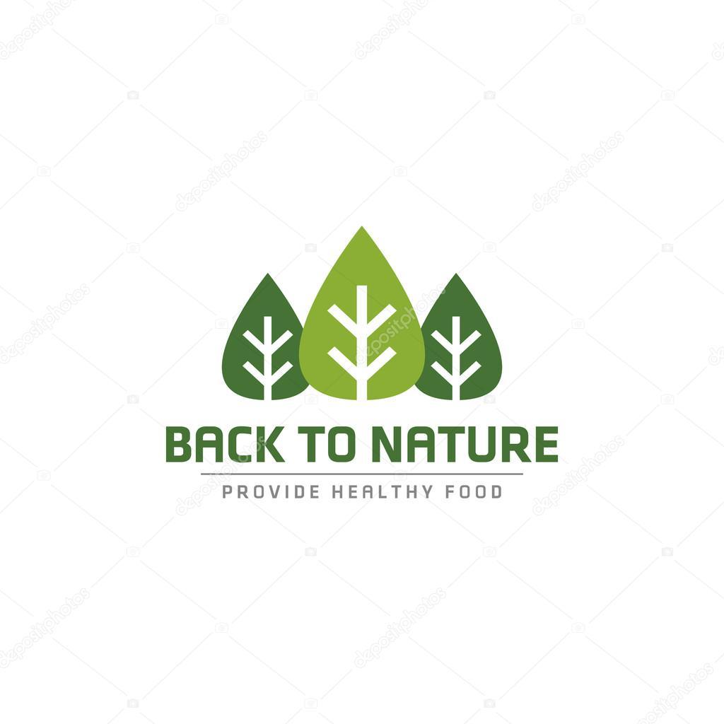 Plantilla de logotipo de bosque natural. Jardinería y paisajismo ...