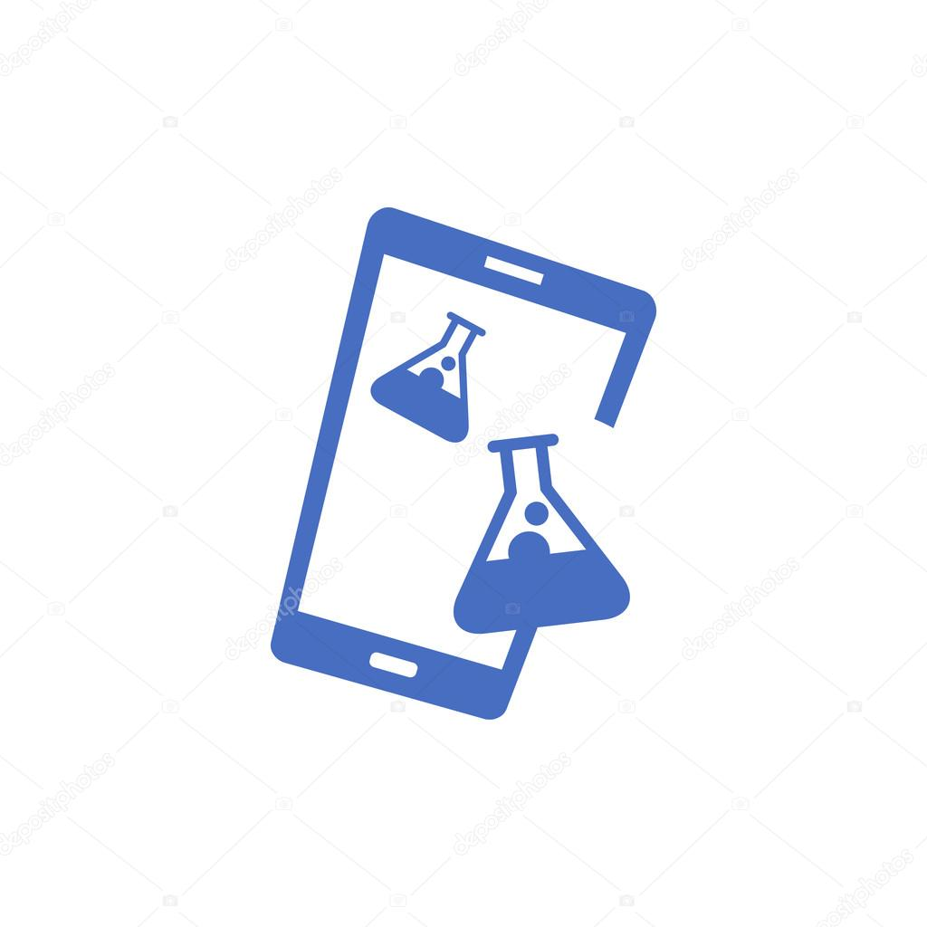 Mobile phone vector logo template concept illustration
