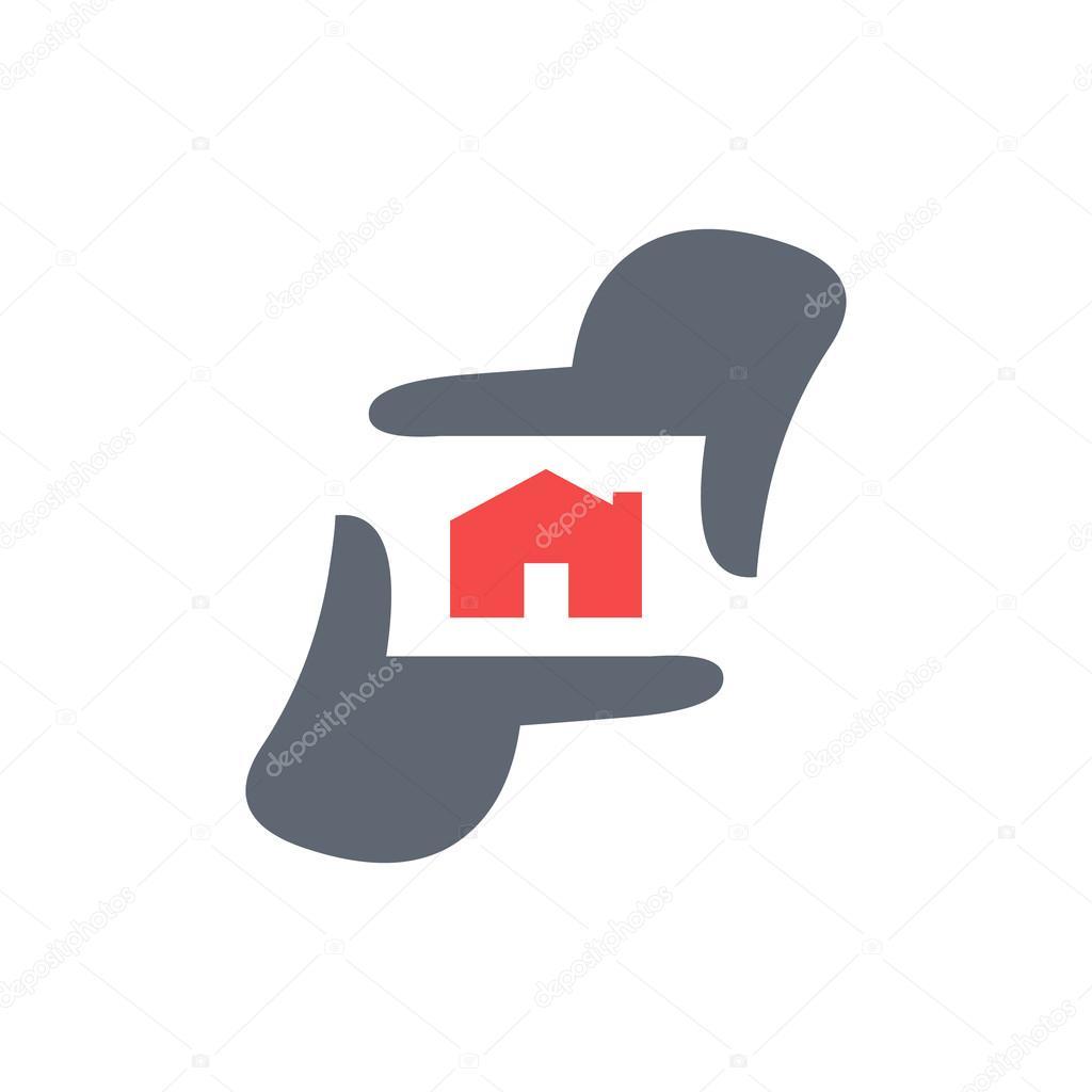 Fotografie-Logo-Vorlage, Fotograf Hand repräsentieren Kamera ...