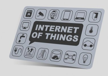 3D illustration of internet of things objects