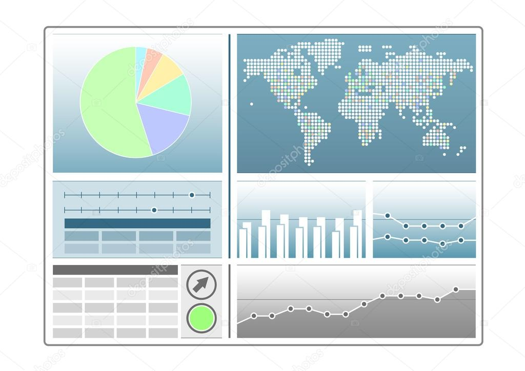 analytics dashboard template with pie chart world map line chart