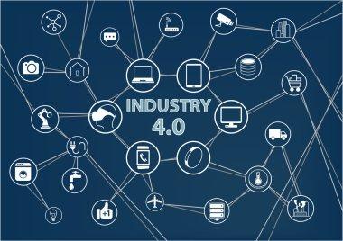 Industry 4.0 industrial internet of things (IIOT) background