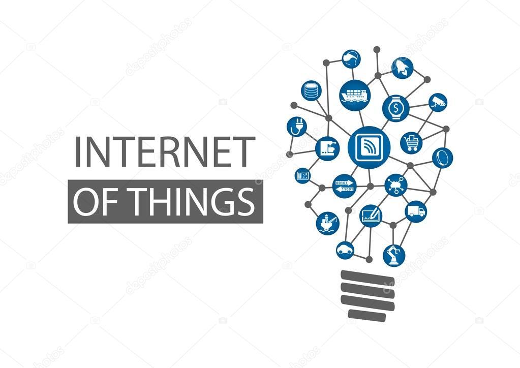 2cd50a4eae1 Интернет вещей (Iot) концепция фона. Векторные иллюстрации ...