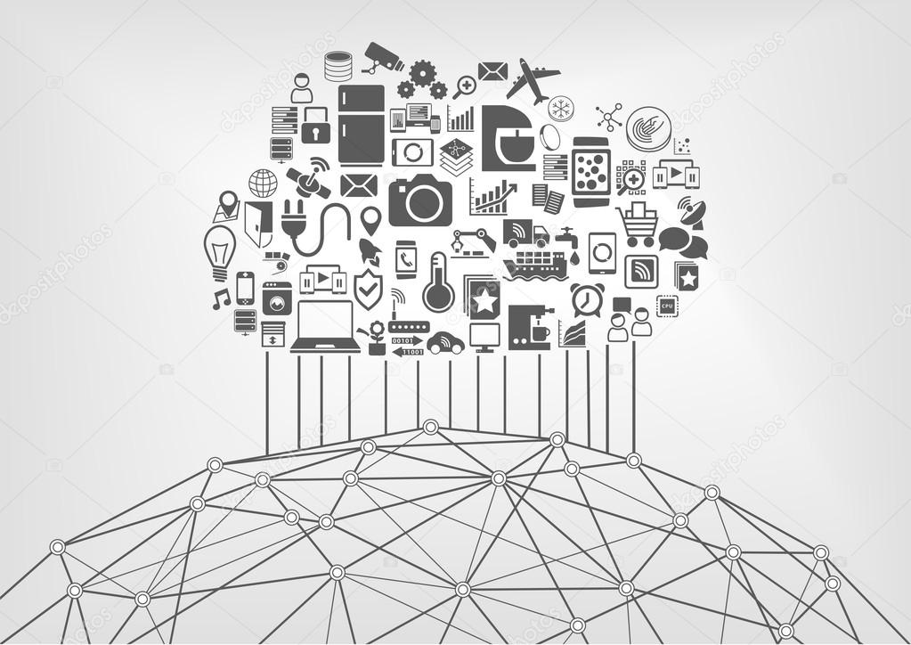 Internet of things (IOT) and cloud computing concept for ...