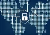 Fotografie Es Sicherheit für globale Organisation Netzwerk Verstöße zu verhindern