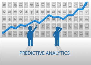 Predictive analytics illustration information dashboard