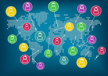 Global network of collaboration within connected workforce