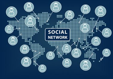 Social network concept. Technology background. Vector.