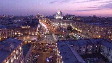 Stalinistisch tijdperk gebouw in Moskou — Stockvideo © kagemusha ...