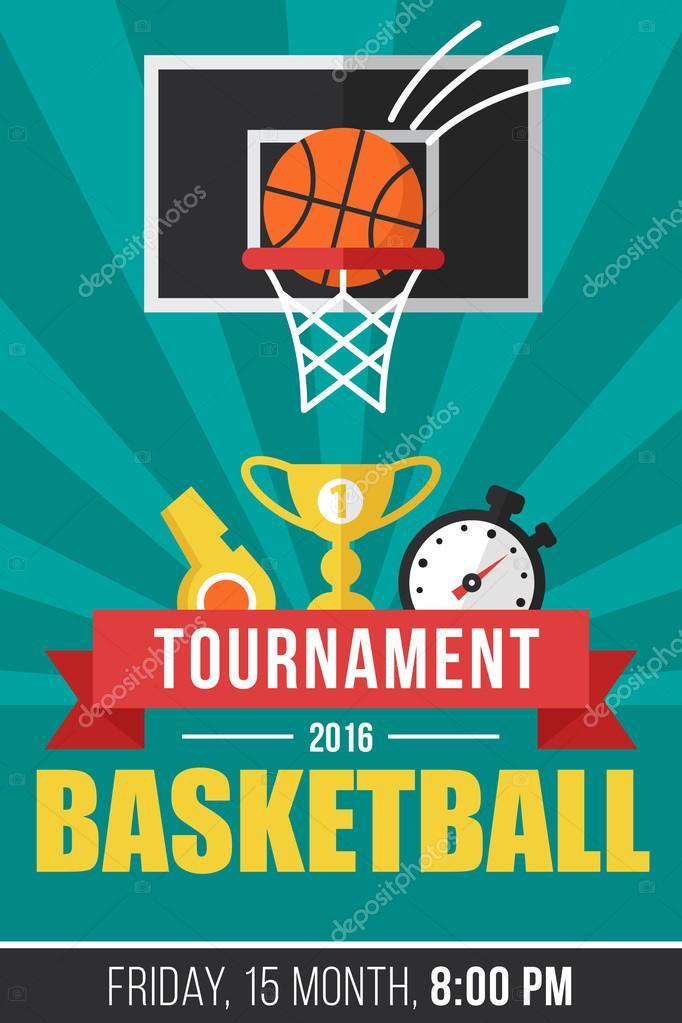 Basketball-Event, Plakat-Vorlage — Stockvektor © dmirgorod.gmail.com ...