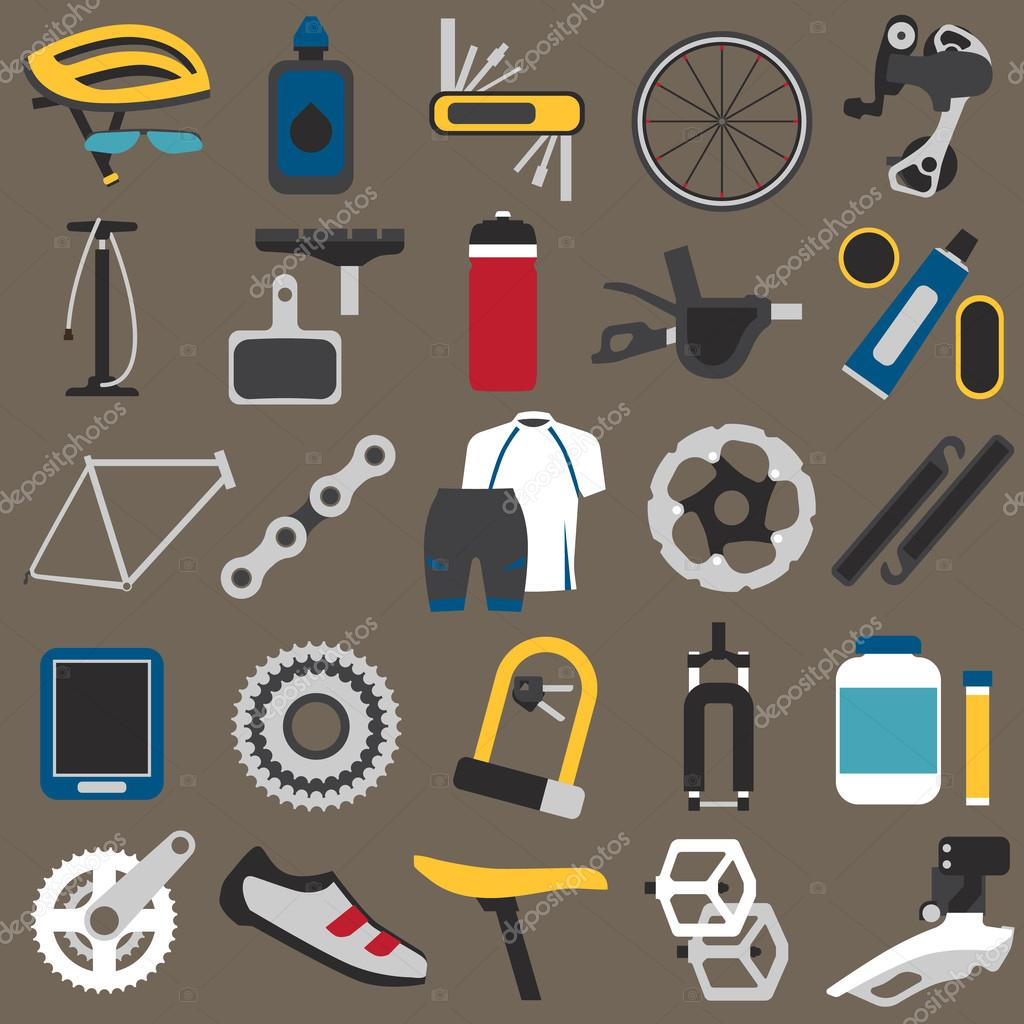 Bicycle Components And Parts Stock Vector Dmirgorodgmailcom Diagram Of