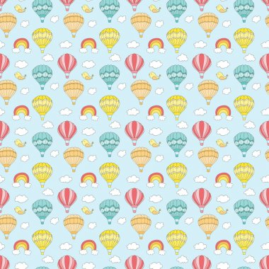 Travel pattern of balloons