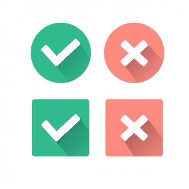 Colorful approval icons