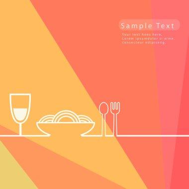 Food restaurant background