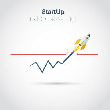 Startup infographic new busines