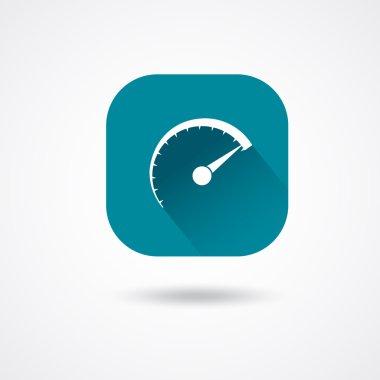 White speedometer icon