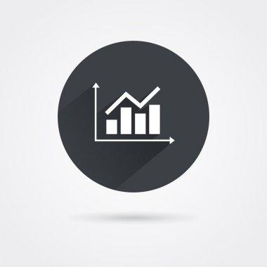 White analyst graphic icon