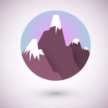 View of mountains in circle