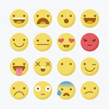 Yellow emoji signs
