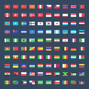Icons of flag of world