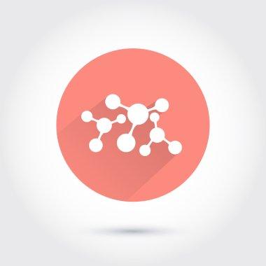 White molecule icon