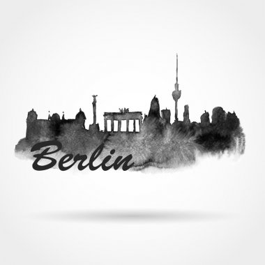 Silhouette panorama of Berlin