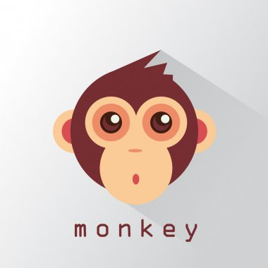 Monkey's face style flat