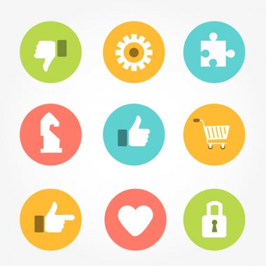 Thumbs up icons set.