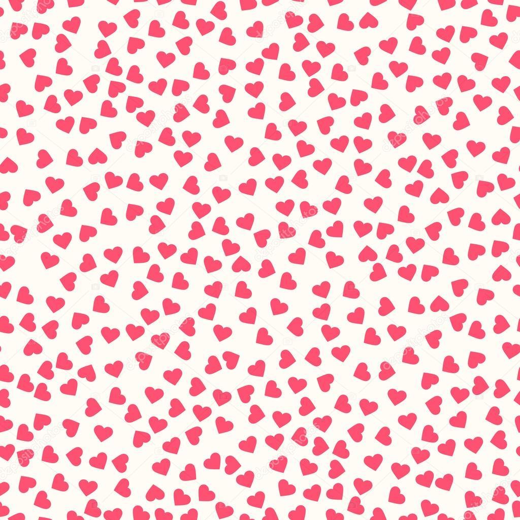 Illustrazione Cuoricini Rosa Modello Con Cuori Rosa Vettoriali