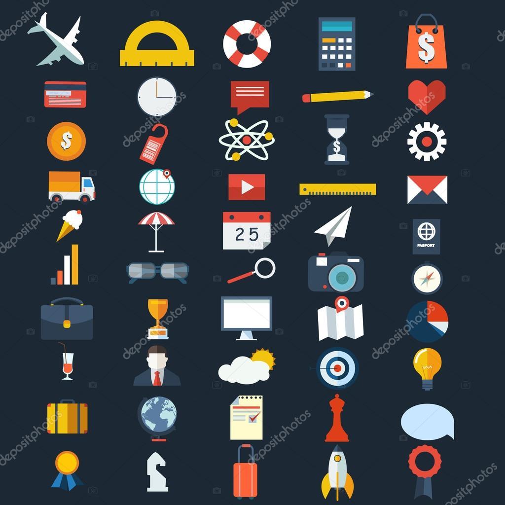 Big set of various icons