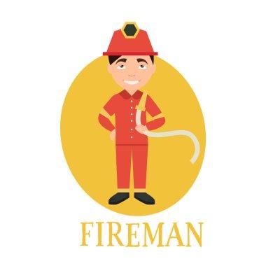 Profession fireman  illustration