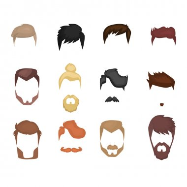 set of beards , mustaches